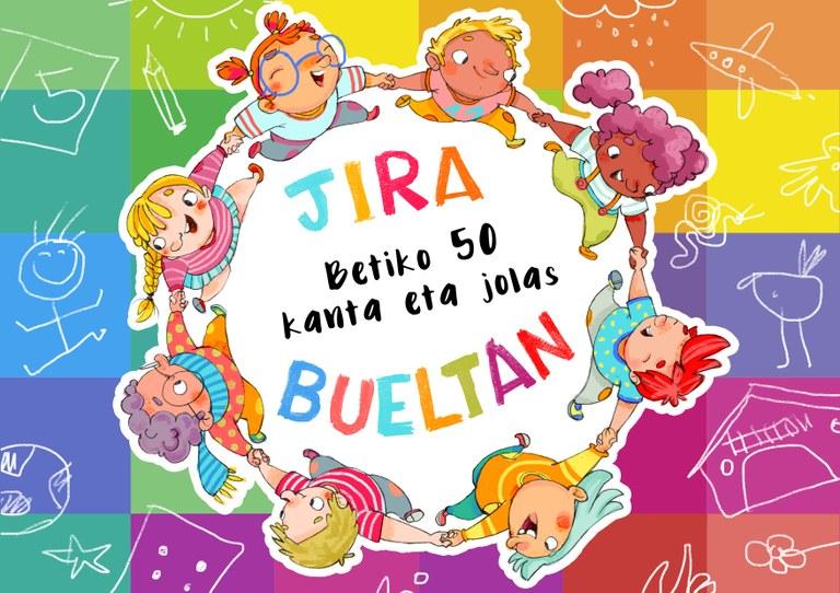 Jira Bueltan liburuxka eta DVDa oparitan