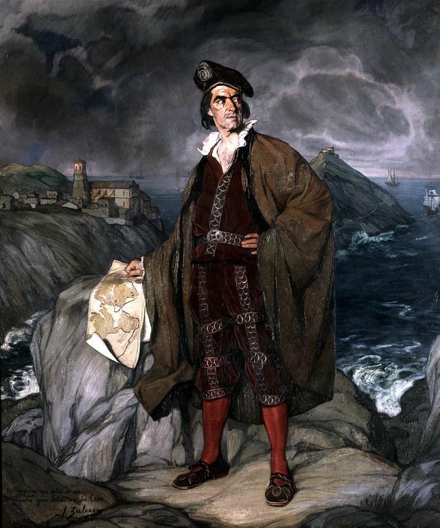 Juan Sebastian Elcanoren koadro bat, Ignacio Zuloagaren koadro originalaren kopia.