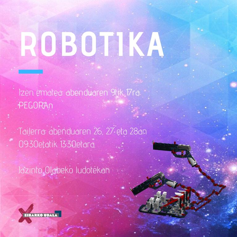 Robotikaren inguruko tailerrak antolatu ditu udalak abendurako