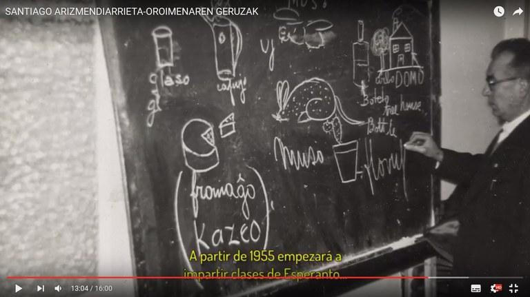 """""""Santiago Arizmendiarrieta. Oroimenaren geruzak"""" dokumentala sarean"""